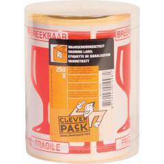 Etiket Cleverpack Breekbaar op rol (250)