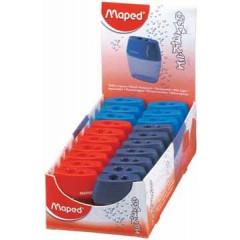 Potloodslijper met opvangbakje Maped shaker 2-gaats assorti