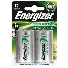 Batterij Energizer Power Plus oplaadbaar D (2)