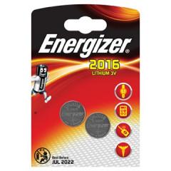 Knoopcelbatterij Energizer Lithium CR2016 3V (2)