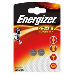 Knoopcelbatterij Energizer LR43/186 1,5V (2)