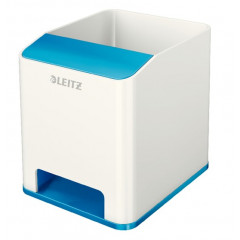 Pennenhouder Leitz WOW Duo PS wit/blauw metallic (5363136)