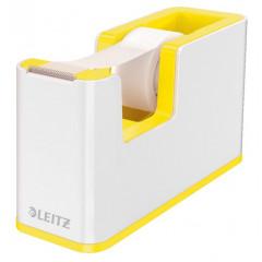 Plakbandhouder Leitz WOW Duo PS wit/geel metallic inclusief rol plakband