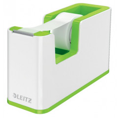 Plakbandhouder Leitz WOW Duo PS wit/groen metallic inclusief rol plakband