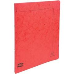 Ringmap Exacompta karton A4 2 ringen 15mm rug 2cm rood