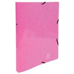 Ringmap Exacompta Iderama karton A4 2 O-ringen 15mm rug 2cm met elastiek roze