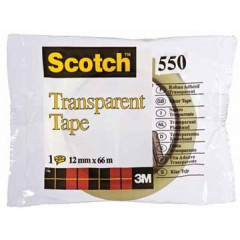 Plakband Scotch 550 12mm x 66m extra sterk