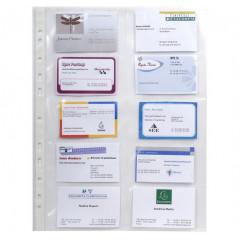 Showtas Exacompta voor visitekaarten PP A4 10-vaks 11-gaats transparant (10)