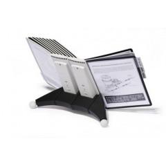 Zichtpanelensysteem Durable Sherpa 20 tafelmodel inclusief 20 zichtpanelen zwart/grijs