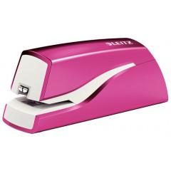 Elektrische nietmachine Leitz New NeXXt 10vel batterijen roze metallic (5566123)