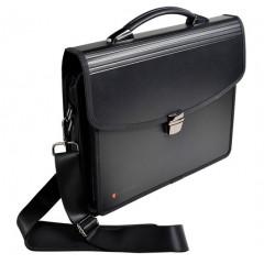 Koffer Exacompta Exatravel PP 31x40cm met riem zwart
