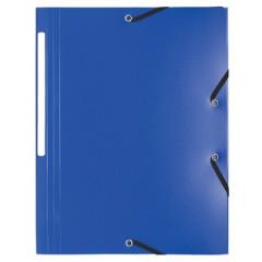 Elastomap 3 kleppen Exacompta A4 PP blauw