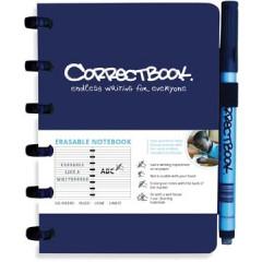 Schrift Correctbook A6 gelijnd herbruikbaar blauw