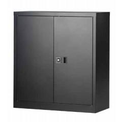Draaideurkast Bisley 100cm hoog met 1 legbord zwart