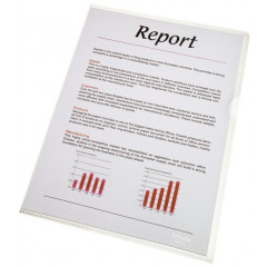 Zichtmap Esselte Standaard PP A4 105µ glashelder transparant (100) (562180T)