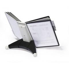 Zichtpanelensysteem Durable Sherpa 10 tafelmodel inclusief 10 zichtpanelen zwart/grijs (D563222)