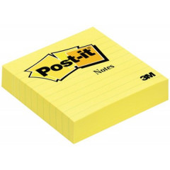 Memoblok Post-it 100x100mm geel