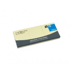 Memoblok Info Notes 50x40mm geel (3 x100)
