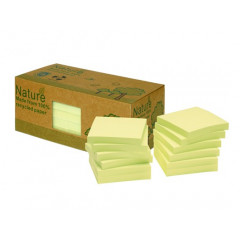 Memoblok Info Notes Nature 75x75mm 100vel geel (12)