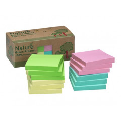 Memoblok Info Notes Nature 75x75mm 100vel assorti (12)