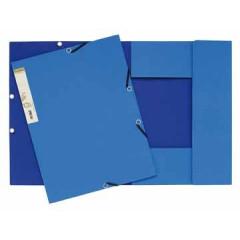 Elastomap 3 kleppen Exacompta forever A4 380gr blauw
