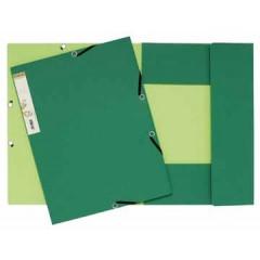 Elastomap 3 kleppen Exacompta forever A4 380gr groen