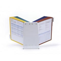 Zichtpanelensysteem Durable Vario 20 tafelmodel inclusief 20 zichtpanelen assorti (D569900)