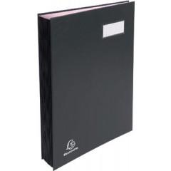 Handtekenmap Exacompta karton overdekt met PVC 24x35cm 20 indelingen zwart