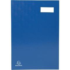 Handtekenmap Exacompta karton overdekt met PVC 24x35cm 20 indelingen blauw