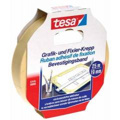 Bevestigingstape Tesa 19mmx25m wit