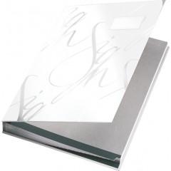 Handtekenmap Leitz design grijze vloei 18-vaks wit