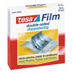 Plakband Tesa Tesafilm dubbelzijdig 33mx19mm wegwerpdispenser met 1 rol