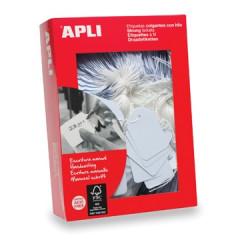 Draadetiketten Apli 7x19mm wit (1000)