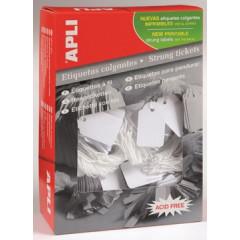 Draadetiketten Apli 9x24mm wit (1000)