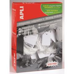 Draadetiketten Apli 28x431mm wit (500)