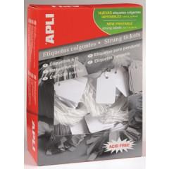 Draadetiketten Apli 45x65mm wit (400)