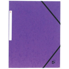 Elastomap 5 Star 3 kleppen A4 450gr paars (10)