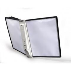 Zichtpanelensysteem Durable Wall 5 wandmodel inclusief 5 zichtpanelen zwart (D563100)