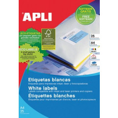 Etiketten Apli afneembaar 189 etik/bl 24,4x10mm (25)