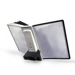 Uitbreidingsset Durable voor zichtpanelensysteem Sherpa inclusief 10 zichtpanelen grijs/zwart (D5811