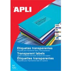 Etiketten Apli polyester transparant 1 etik/bl 210x297mm (20)