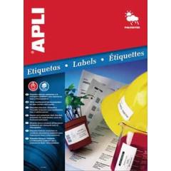 Etiketten Apli polyester weerbestendig 24 etik/bl 64,6x33,8mm (20)