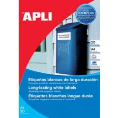 Etiketten Apli polyester weerbestendig 1 etik/bl 210x297mm (20)
