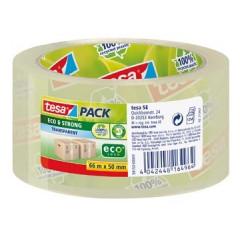 Verpakkingstape Tesa Eco&Strong EcoLogo PP 50mmx66m transparant