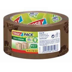 Verpakkingstape Tesa Eco&Strong EcoLogo PP 50mmx66m havana