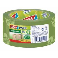 Verpakkingstape Tesa PVC 50mm x 66m groen ECO