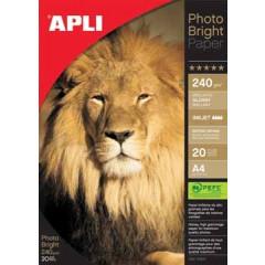 Fotopapier Apli photo bright A4 240gr inkjet (20)