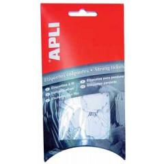 Draadetiketten Apli 9x24mm wit (200)