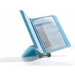 Zichtpanelensysteem Durable Sherpa Bact-O-Clean tafelmodel inclusief 10 zichtpanelen lichtblauw (D59