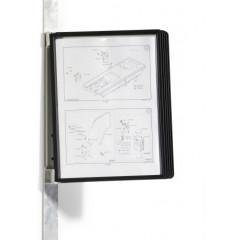 Zichtpanelensysteem Durable Vario Magnet Wall 5 A4 zwart